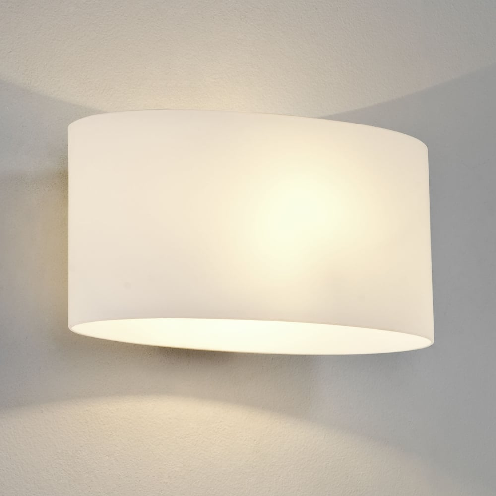 Wall Lights In White : Astro Lighting 0472 Tokyo White Glass Wall Light
