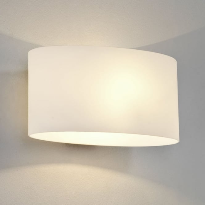 Astro Tokyo White Glass Wall Light