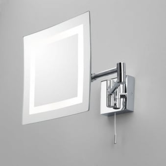 Torino Illuminated Switched Square Magnifying Mirror