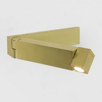 Tosca Switched LED Wall Reading Light in Matt Gold