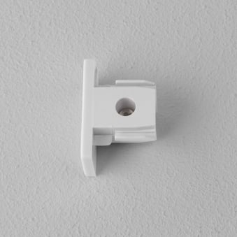 Track Lighting End Cap in White