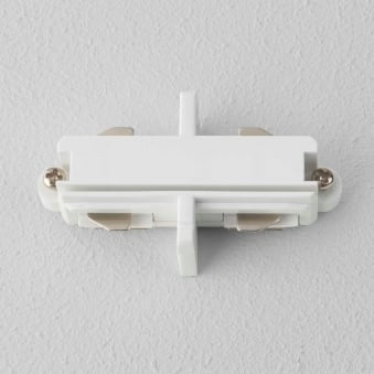Track Lighting End to End Connector in White