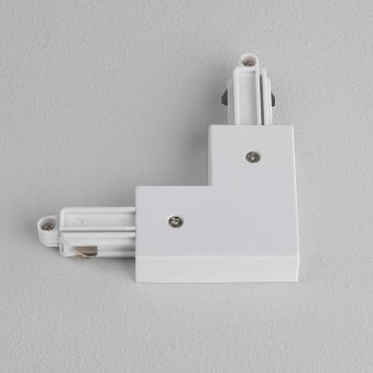 Track Lighting Right Connector in White