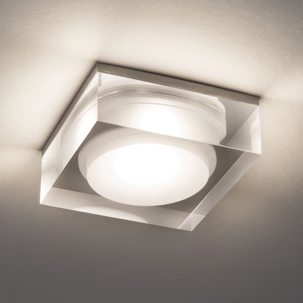 Bathroom Ceiling Downlights astro vancouver 90 square led ip44 bathroom downlight - fitting
