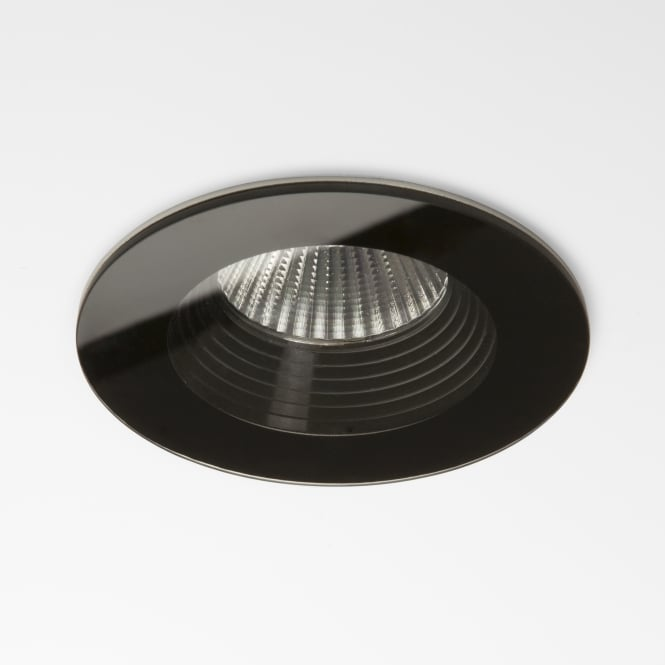 Astro Vetro LED Fire Rated IP65 Bathroom Downlight in Black