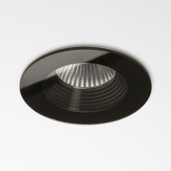 Vetro LED Fire Rated IP65 Bathroom Downlight in Black