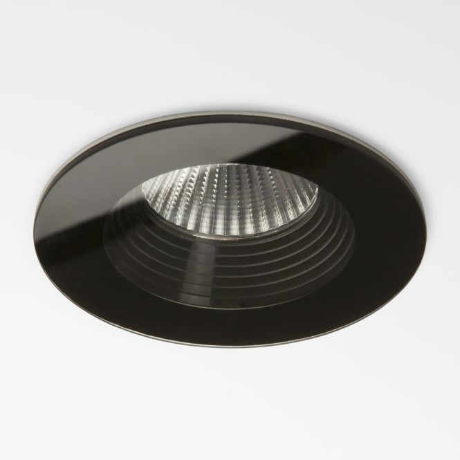 Astro Vetro LED IP65 Round Black Bathroom Downlight