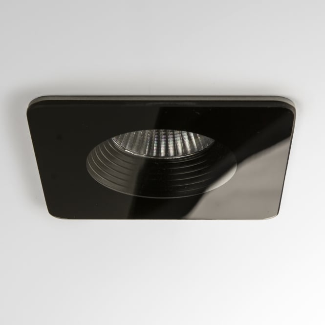 Astro Vetro LED IP65 Square Black Fire Rated Bathroom Downlight