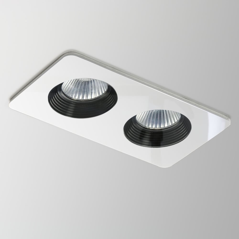 astro vetro twin white 2 x 10w led downlight ip65 fitting type from dusk lighting uk. Black Bedroom Furniture Sets. Home Design Ideas