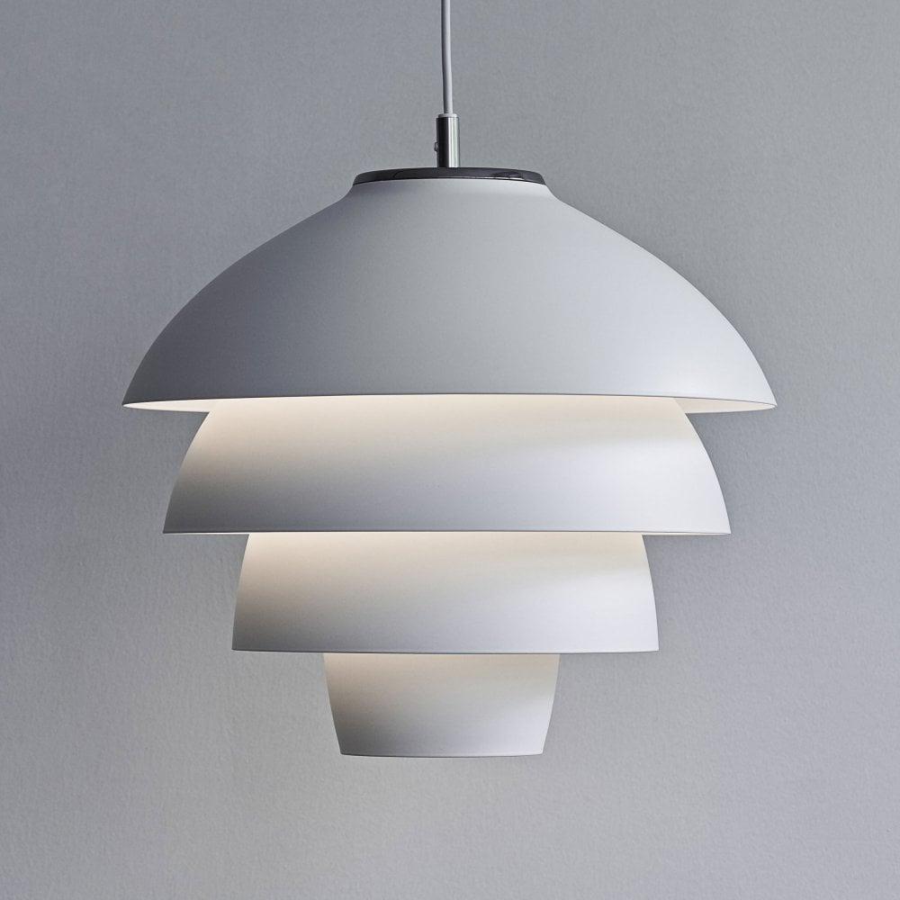 Belid valencia 318 pendant light in flat white