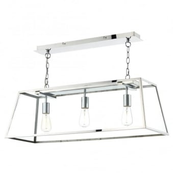 Academy 3 Light Pendant in Stainless Steel