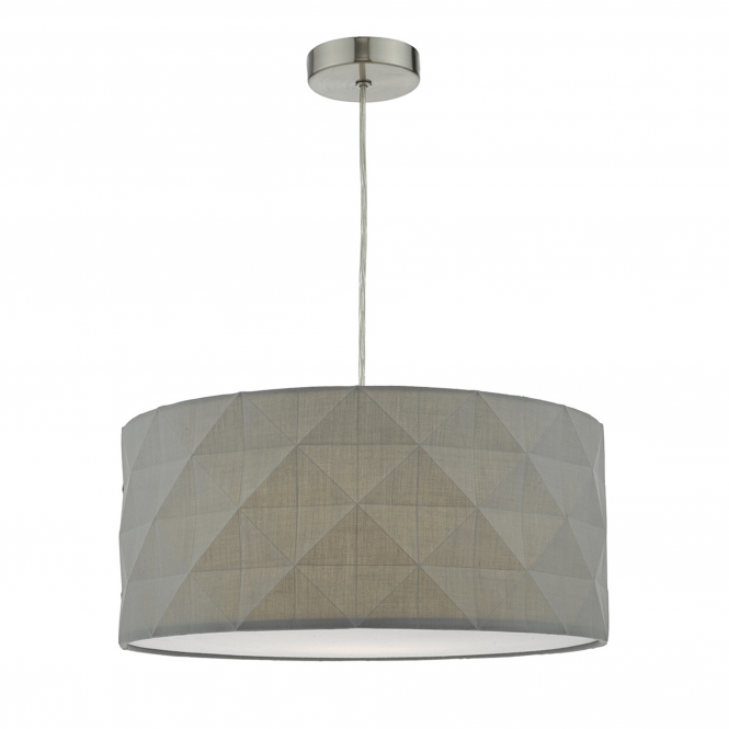 Dar Lighting Aisha Easy Fit Faceted Cotton Shade in Grey