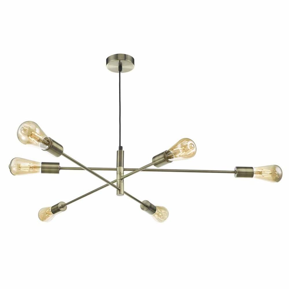 Dar ala0675 alana six light pendant in antique brass alana six light pendant in antique brass aloadofball Gallery