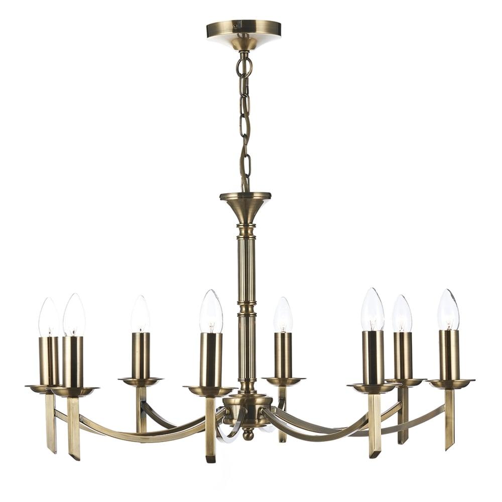 Dar lighting ambassador 8 light chandelier pendant in antique brass ambassador 8 light chandelier pendant in antique brass arubaitofo Choice Image