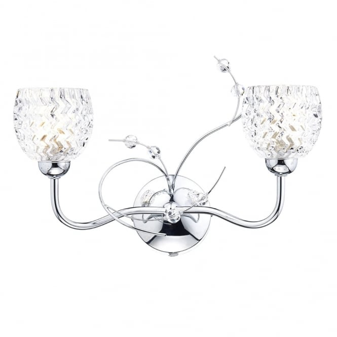 Dar Lighting Annabelle Double Wall Light in Polished Chrome