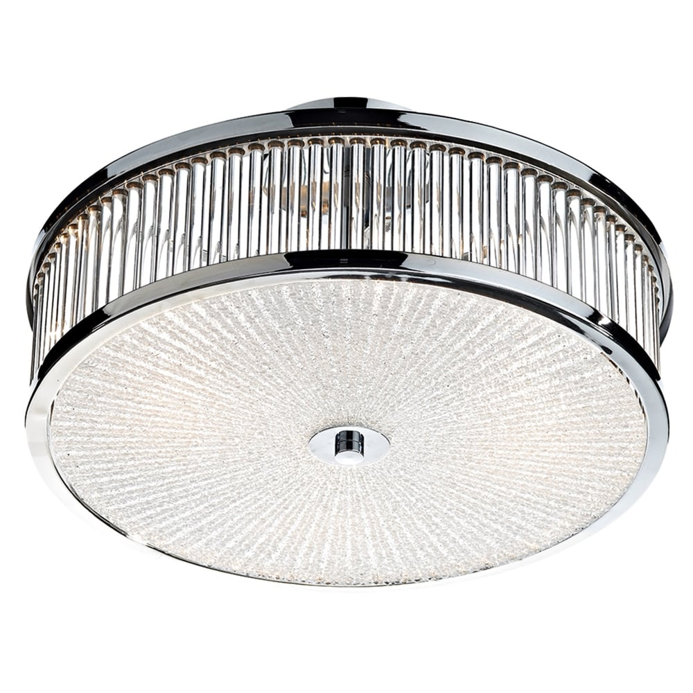 dar lighting aramis 3 light glass flush ceiling light fitting type