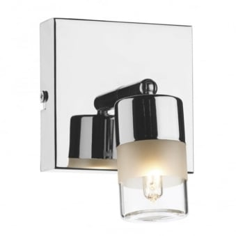 Artemis IP44 Single Wall Light in Polished Chrome
