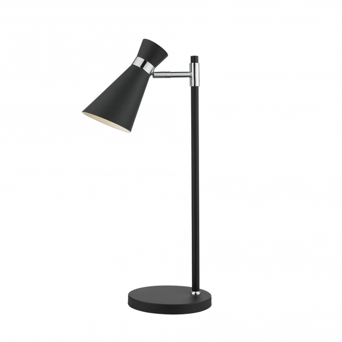Dar Lighting Ashworth Table Lamp in Black and Chrome