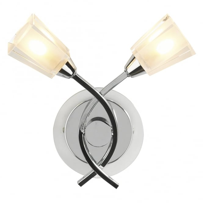 Dar Lighting Austin Double Wall Light in Polished Chrome
