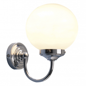 Barclay IP44 Polished Chrome Switched Bathroom Wall Light