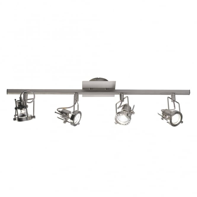 Dar Lighting Bauhaus Four Light Bar Spotlights in Satin Chrome