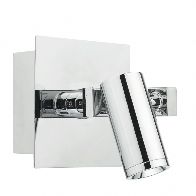 Dar Lighting Bex LED Wall Light in Polished Chrome