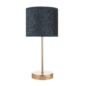 Bistro Navy Blue Glitter Touch Control Table Lamp