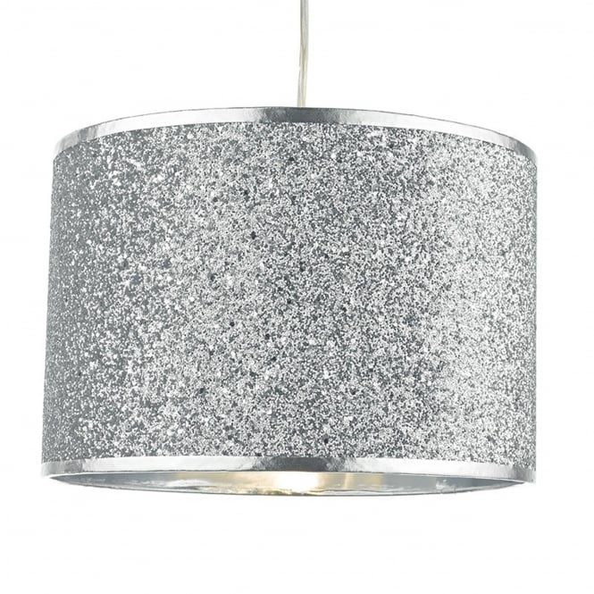 Dar Lighting Bistro Silver Glitter Easy Fit Shade