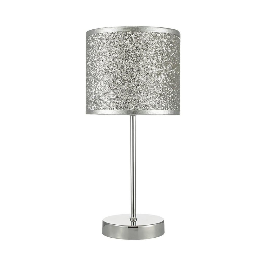 Bistro Silver Glitter Touch Control Table Lamp