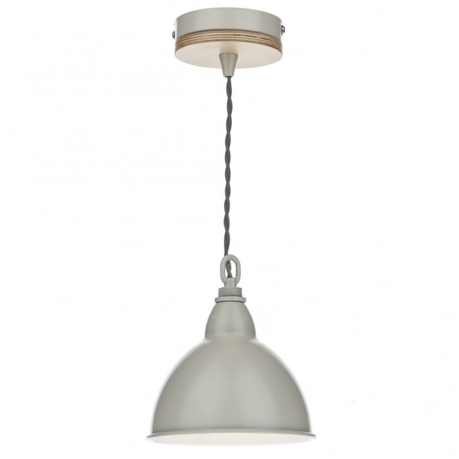 Dar Lighting Blyton Single Pendant with Cream Retro Shade