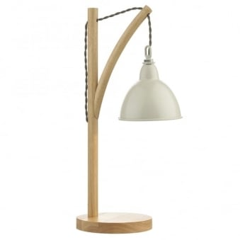 Blyton Table Lamp with Lightwood Frame