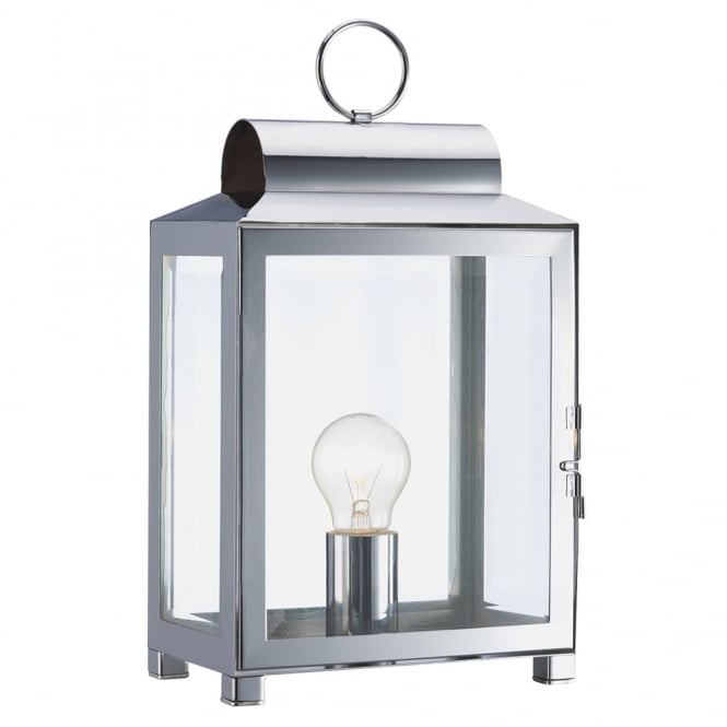 Dar Lighting Box Table Lamp in Polished Chrome