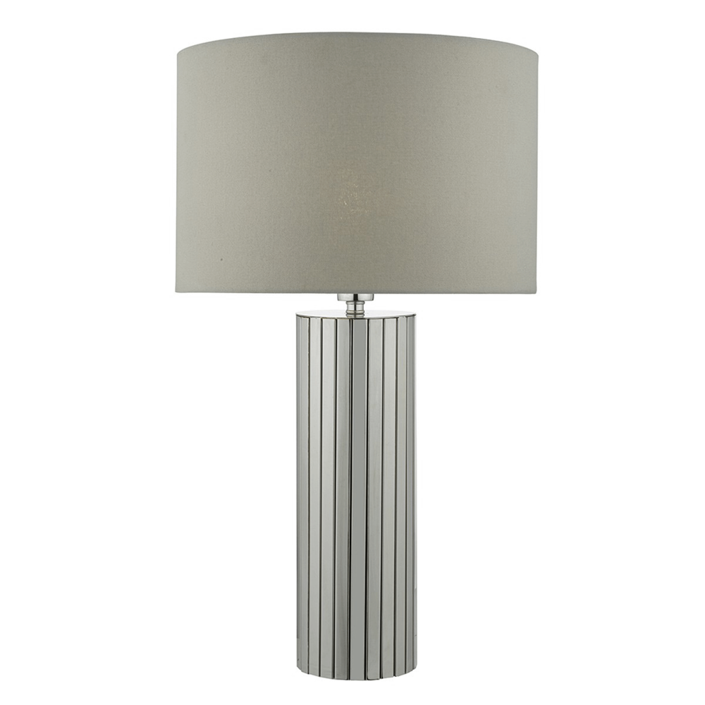 Dar cas4250 cassandra chrome table lamp with grey shade cassandra chrome table lamp with grey shade aloadofball Images