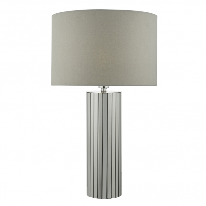 Dar Lighting Cassandra Chrome Table Lamp with Grey Shade