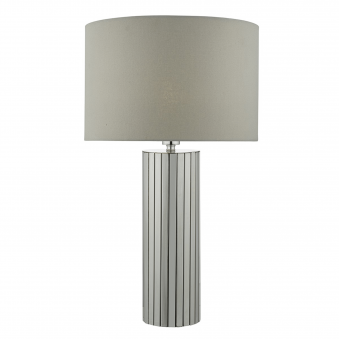 Cassandra Chrome Table Lamp with Grey Shade