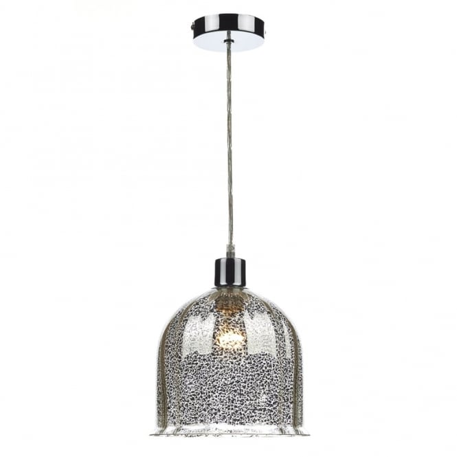 Dar Lighting Cembalo Easy Fit Glass Shade in Mottled Antique Silver