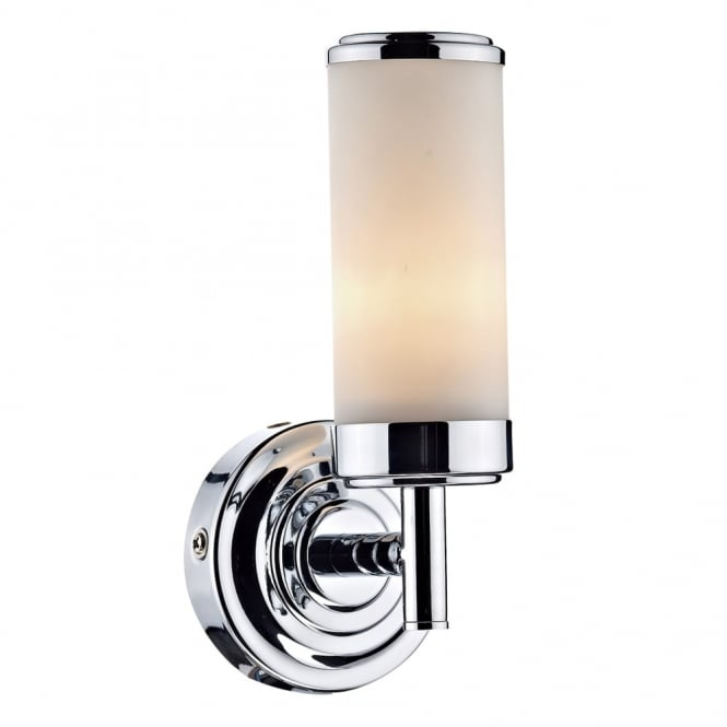 Dar Lighting Century IP44 Single Wall Light in Polished Chrome
