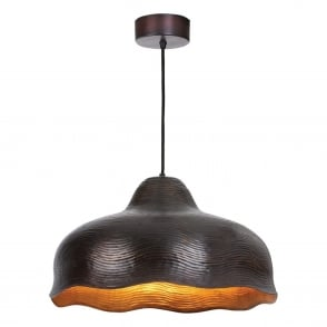 Chloe Pendant in Mottled Aged Copper