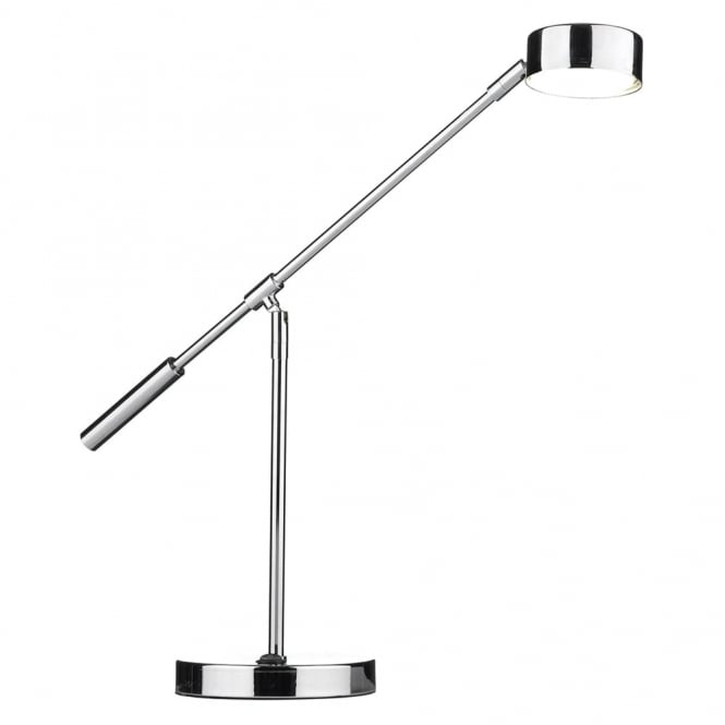 Dar Lighting Cruise LED Table Lamp in Polished Chrome