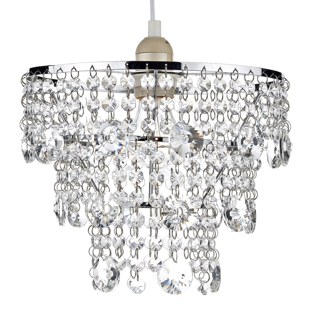 easy lighting. Cybil Easy Fit Pendant With Crystal Bead Decoration Lighting A