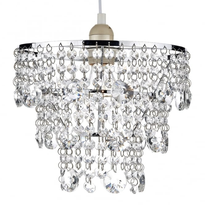 Dar Lighting Cybil Easy Fit Pendant with Crystal Bead Decoration