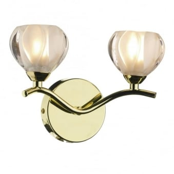 Cynthia Double Wall Light in Polished Brass