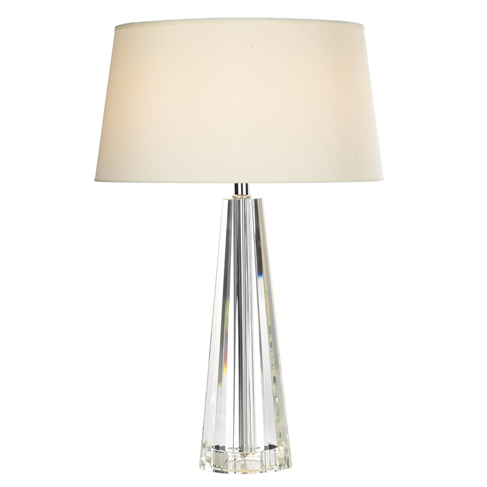Dar lighting cyprus table lamp with crystal glass base fitting type from dusk lighting uk - Table lamp types ...