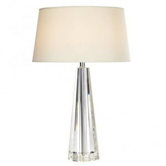 Cyprus Table Lamp with Crystal Glass Base