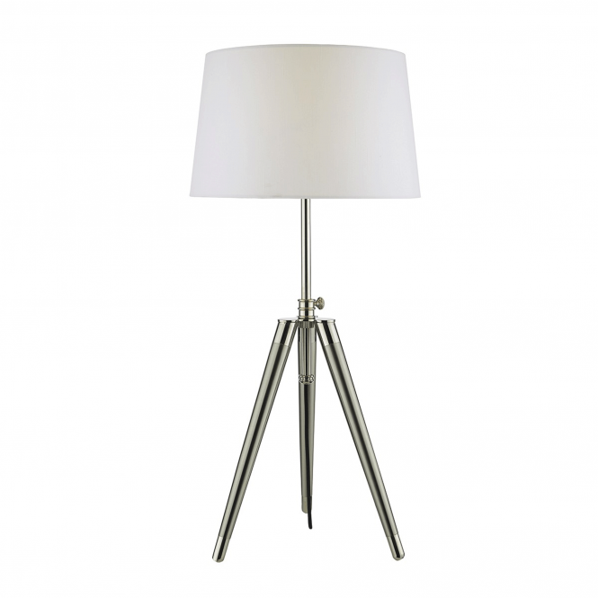 Dar Lighting Dacia Table Lamp in Brushed Nickel