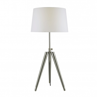 Dacia Table Lamp in Brushed Nickel