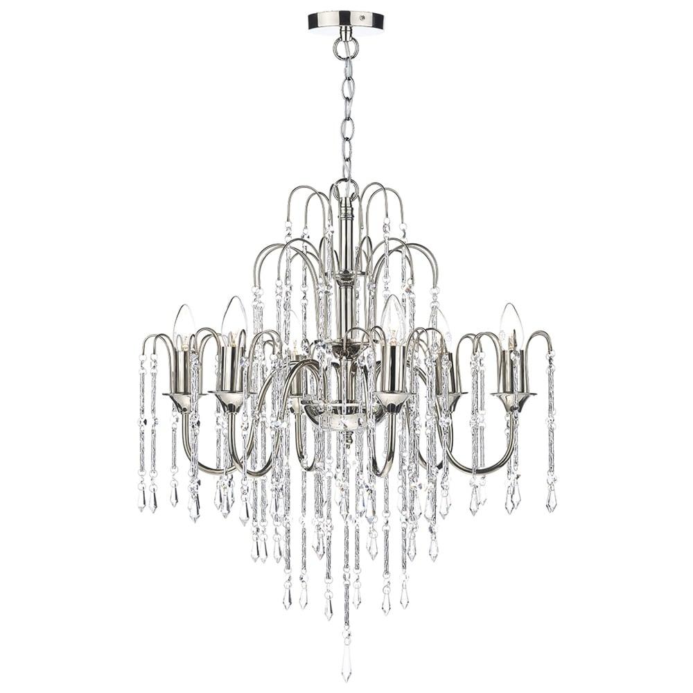 Dar lighting daniella six light chandelier with cascading crystal daniella six light chandelier with cascading crystal beads arubaitofo Choice Image