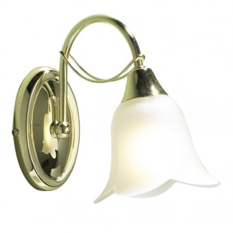 Doublet Single Wall Light in Polished Brass