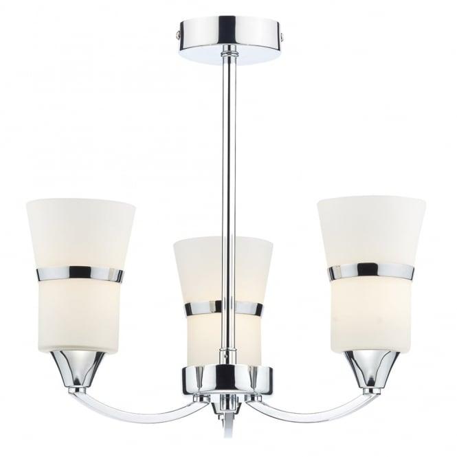 Dar Lighting Dublin 3 Light Semi Flush LED Ceiling Fitting