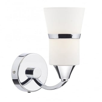 Dublin Single LED Wall Light in Polished Chrome